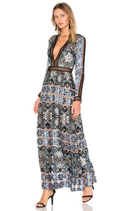 FOR LOVE & LEMONS Juliet Maxi Dress Size S NWT