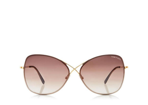 TOM FORD Colette Butterfly Rose Gold Sunglasses