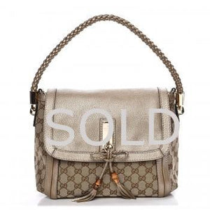 GUCCI Monogram Medium Bella Flap Handbag