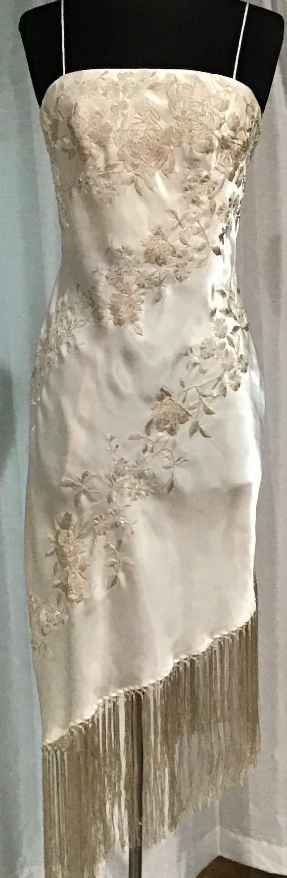 Sue Wong Short Ivory Gown Size 4