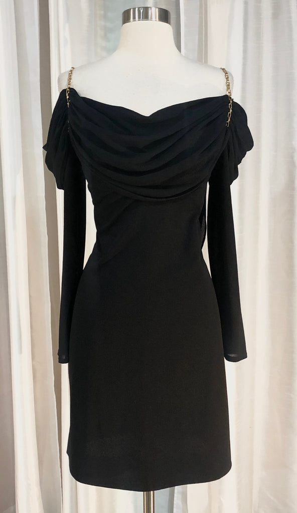 Lillie Rubin Short Black Gown Size 10
