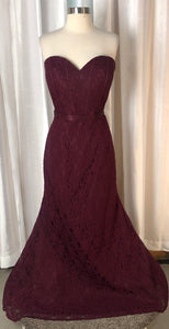 Mori Lee Bordeaux Strapless Long Gown Size 20
