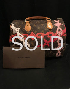LOUIS VUITTON Monogram Bay Rose Ballerine/Poppy Speedy 30