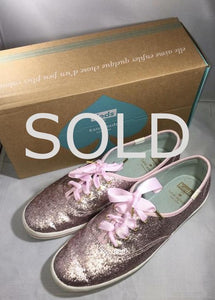 KATE SPADE X Keds Iced Pink Glitter Sneakers