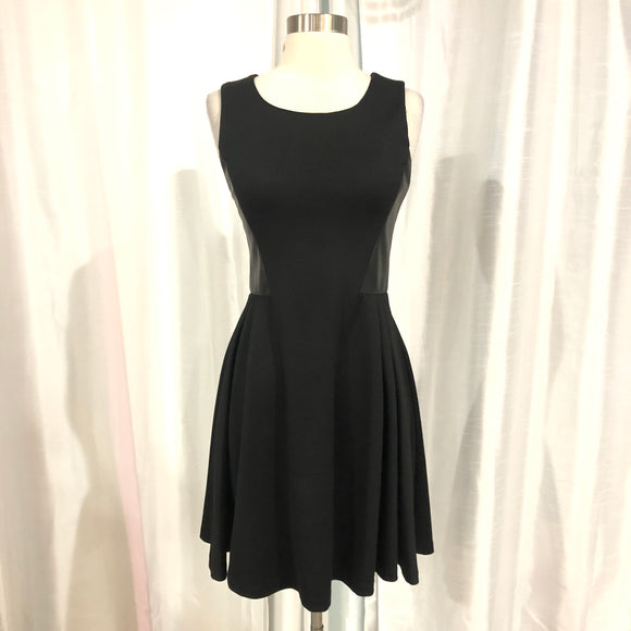 BAR III Short Black Fit & Flare Gown Size M
