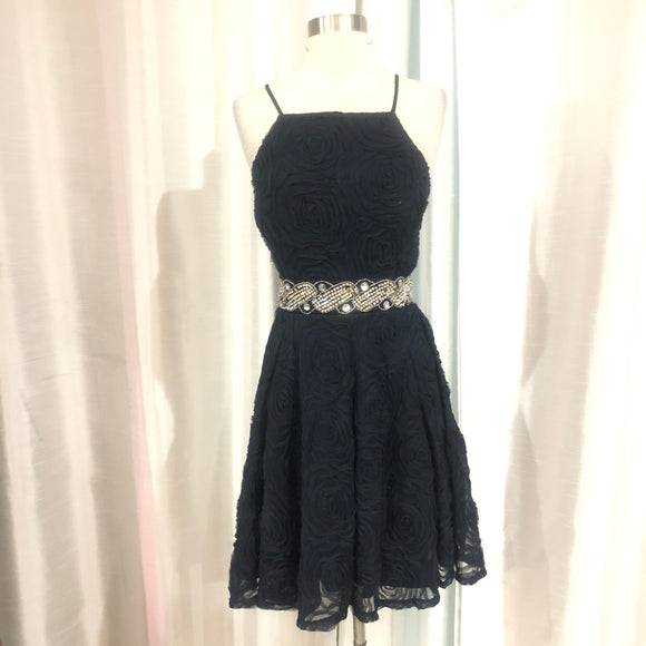 BOUTIQUE Short Navy Gown Size 16