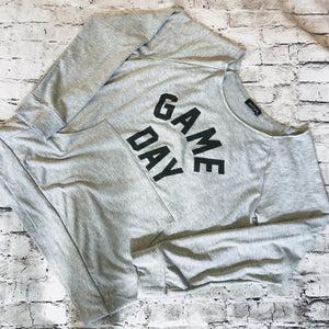 "BOUTIQUE Slouchy Off the Shoulder Sweatshirt ""Game Day"""