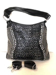 BOUTIQUE Embellished Hobo Bag