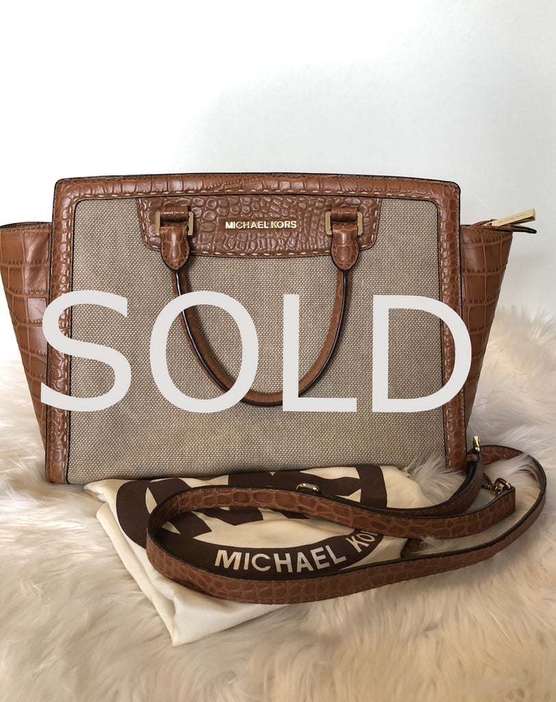 MICHAEL KORS Selma Pick Stitch Large Satchel