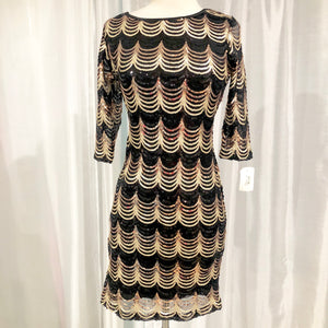 BOUTIQUE Short Multi-Color Sequin Form Fitting Gown Size XL NWT