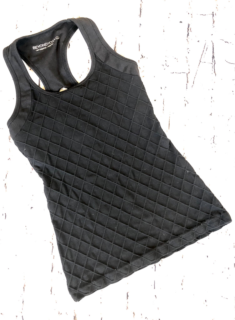 BEYOND YOGA Quilted Multicross Racerback Tank Top