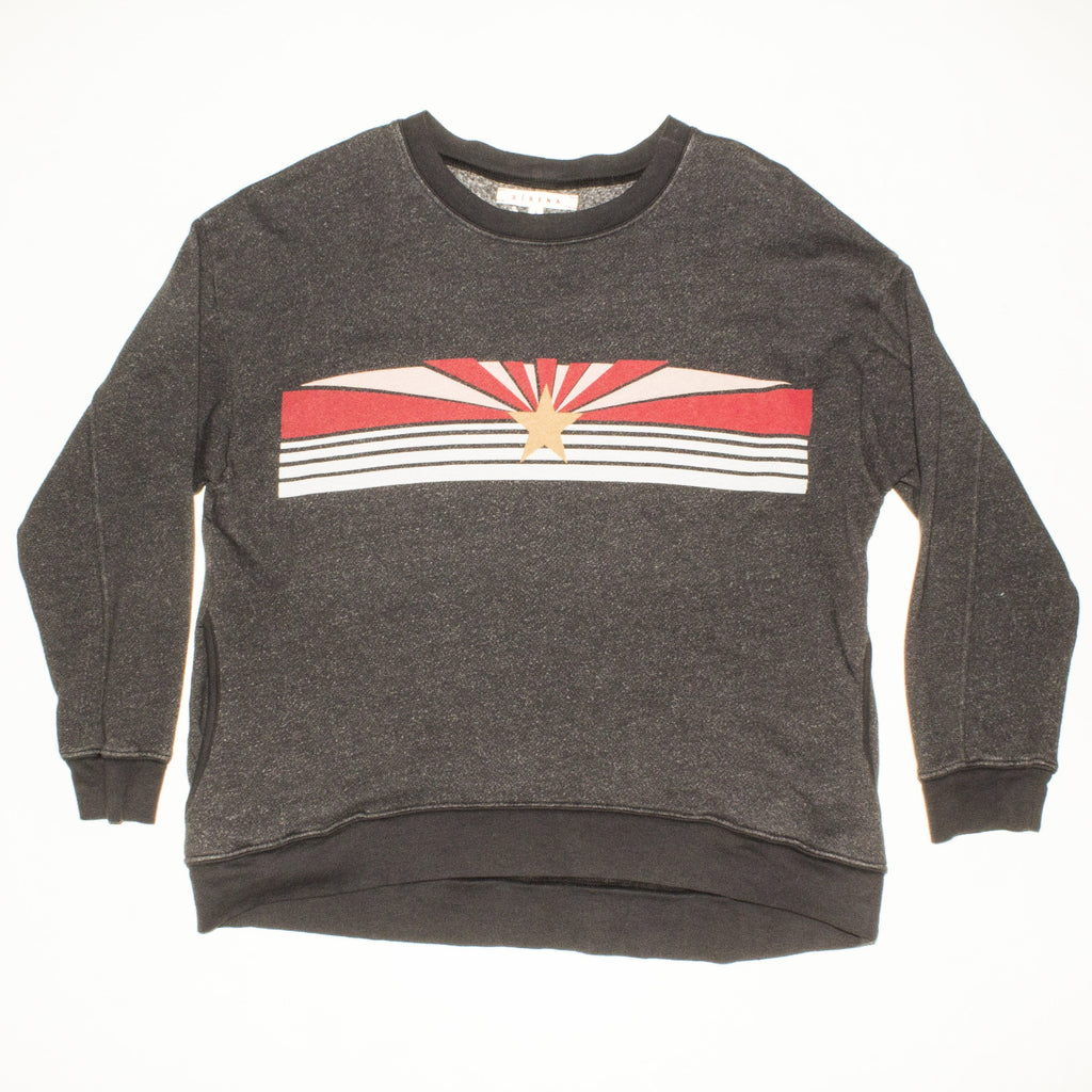 XIRENA Charcoal Crewneck Graphic Sweatshirt
