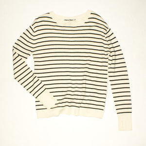 PAM & GELA Cream & Black Sweater