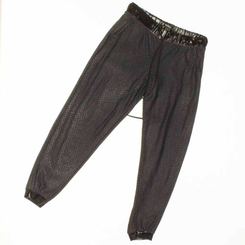 KORAL Black Mesh Sweatpants