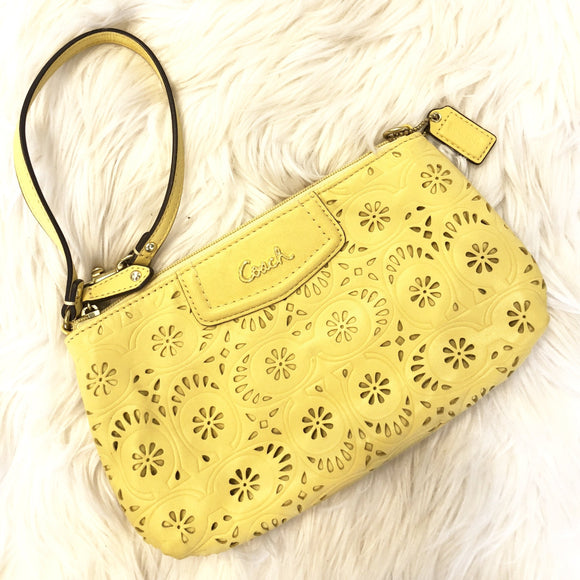COACH Ashley Lace Lasercut Convertible Wristlet