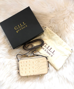 G.I.L.I. (got it love it) Hornback Croco Leather Micro Crossbody Bag