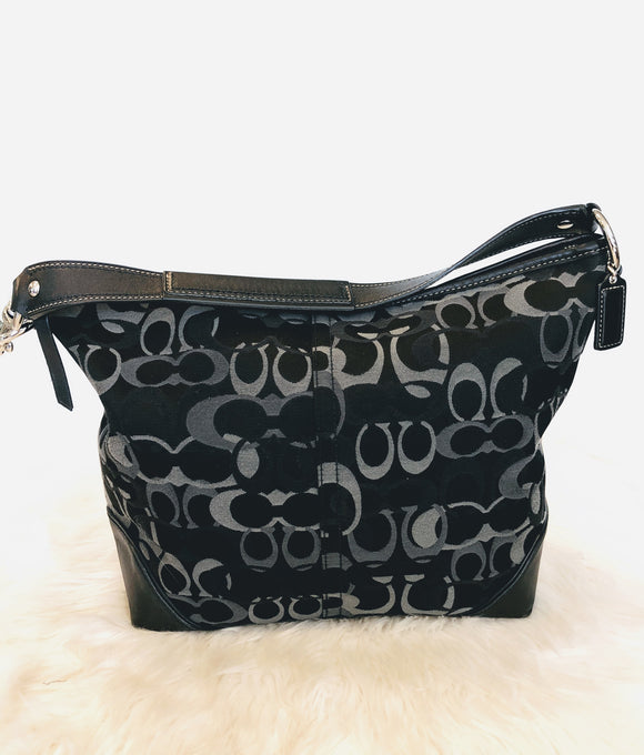 COACH Sarah Optic Art Signature C Tote