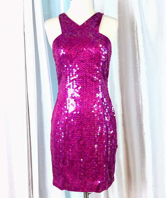 NITE LINE Short Sequin Dress