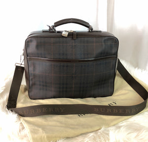BURBERRY Check Small Carry-on/Overnight Bag/Laptop Bag