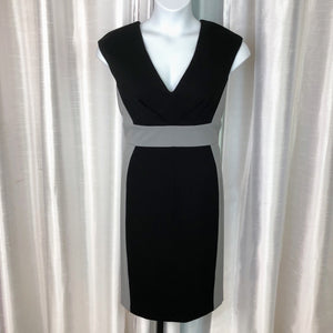 CATHERINE MALANDRINO Braelyn Deep V Color Block Dress