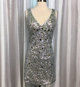 FABULUXE Short Sequin Dress Size L