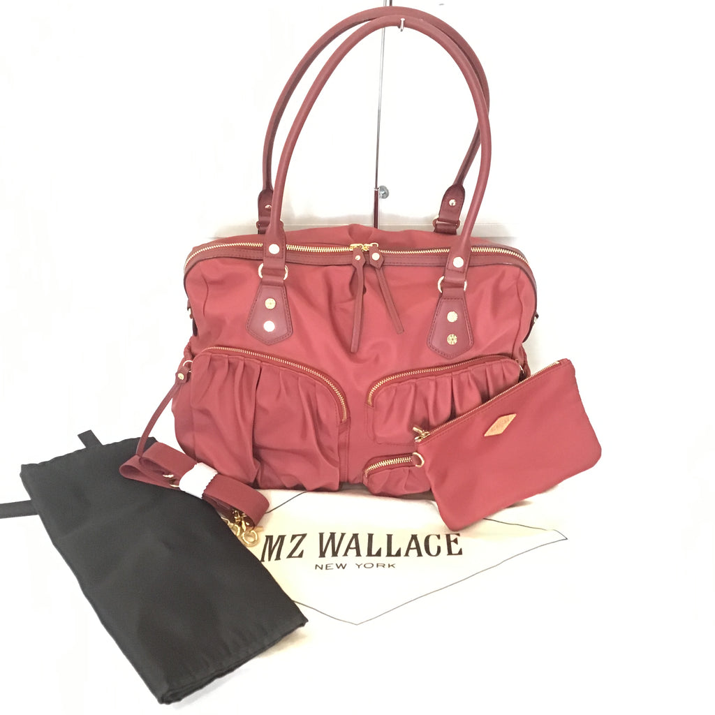 MZ WALLACE Red Kate Diaper Bag NWT