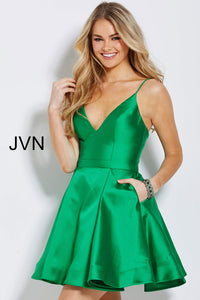 JVN By JOVANI Short Green Cocktail Gown Size 12