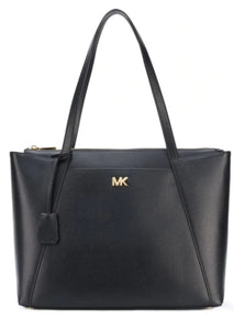 MICHAEL KORS Maddie Black Leather Shoulder Handbag Tote