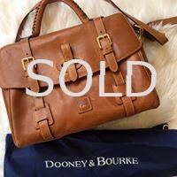 DOONEY & BOURKE Florentine Flap Tab Satchel with Key Holder