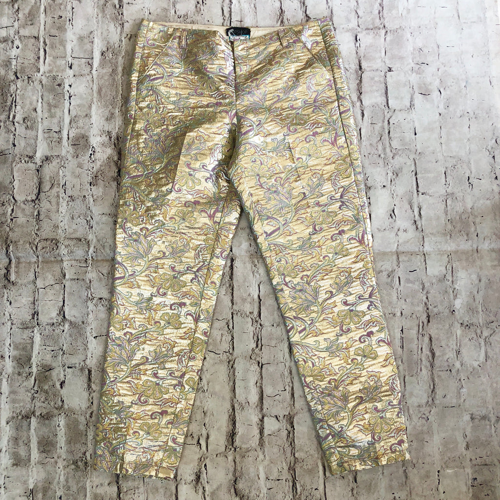 TOPSHOP Multi-Color Metallic Pants Size 4