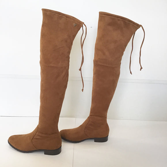 GUESS Suede Chestnut Over The Knee Boots Size 5 NWT