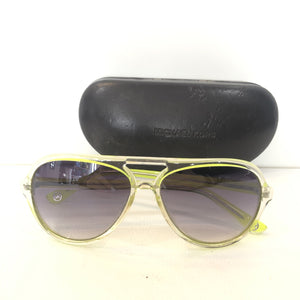MICHAEL KORS Clear & Green Caicos Plastic Aviator Sunglasses