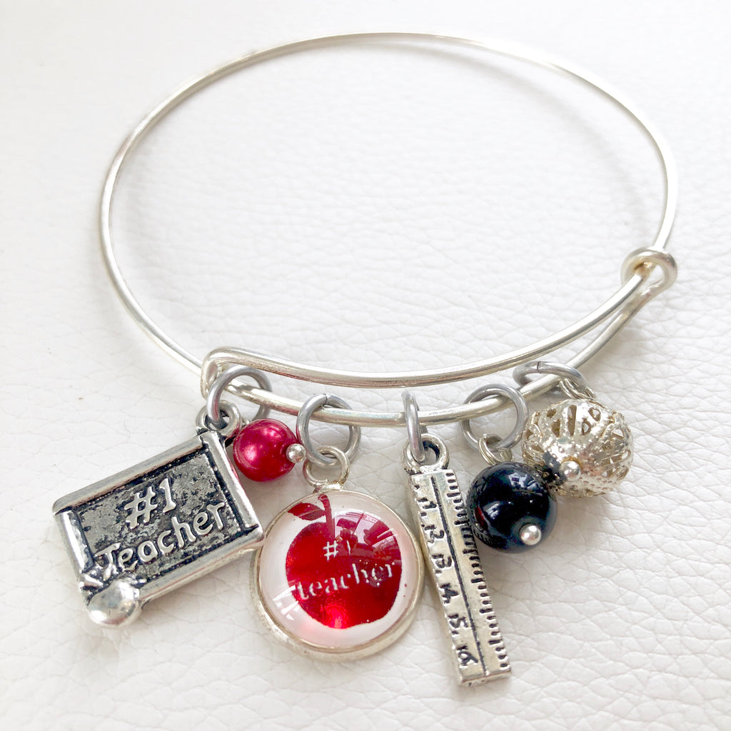 Boutique #1 Teacher Charm Bangle Bracelet