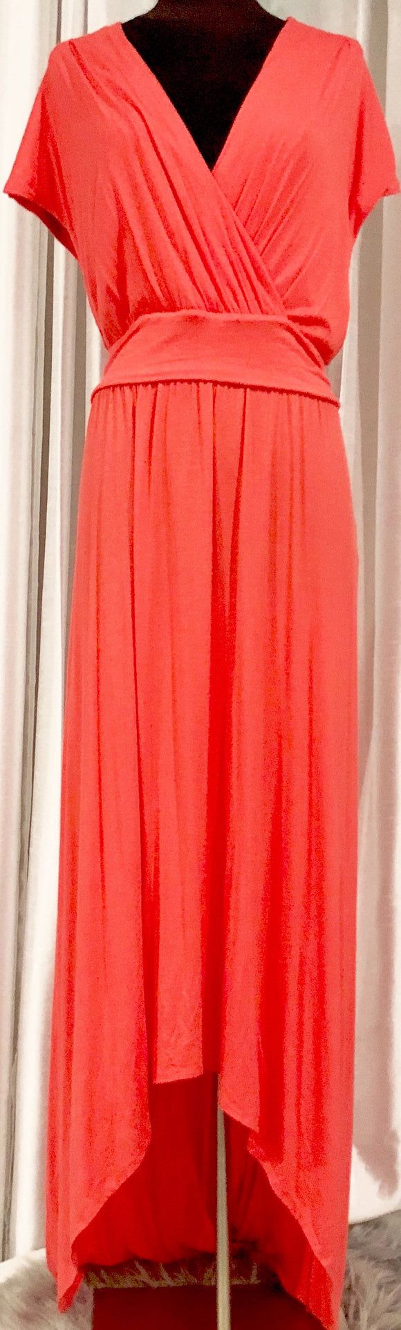 BOUTIQUE Coral Maxi Dress Size 1X NWT