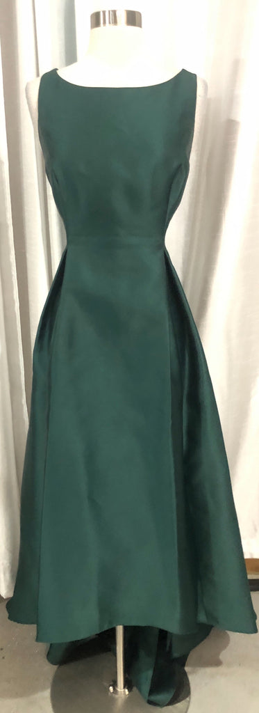 ADRIANNA PAPELL High-Low Emerald Green Gown Size 12
