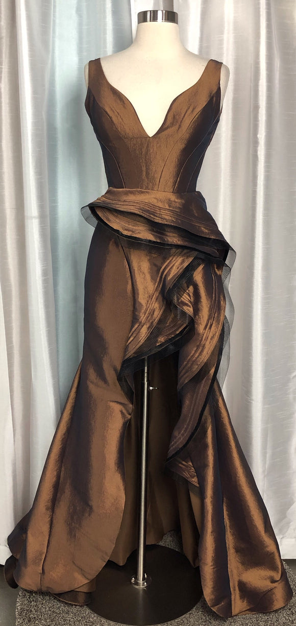 JASZ COUTURE  BRONZE DRESS SIZE 2