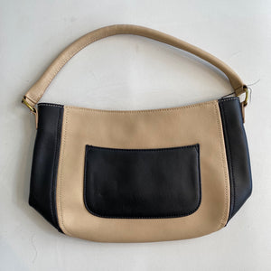 J CREW Tan And Black Shoulder Bag