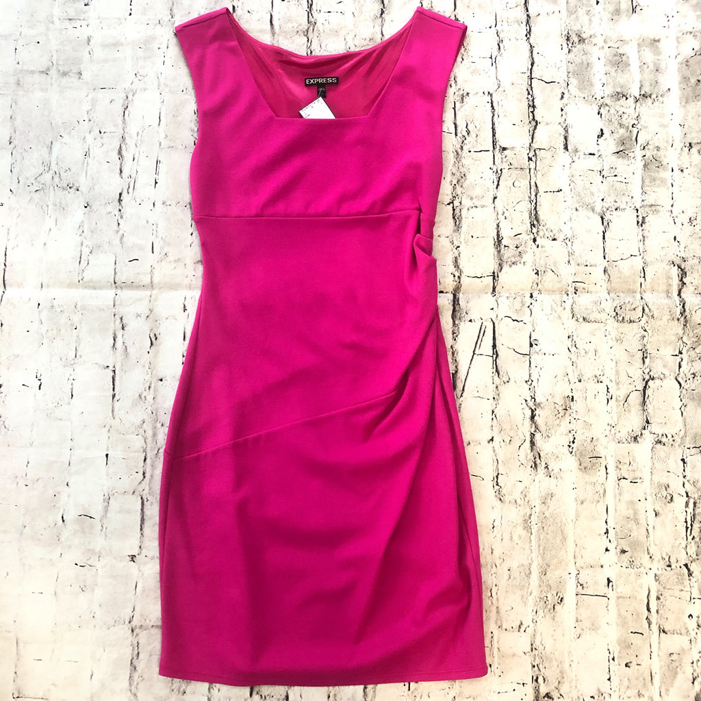 EXPRESS Short Pink Form Fitting Dress Size 6
