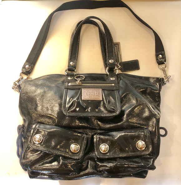 Coach Poppy Patent Leather Handbag