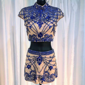 SHERRI HILL COUTURE TWO PIECE SIZE 0