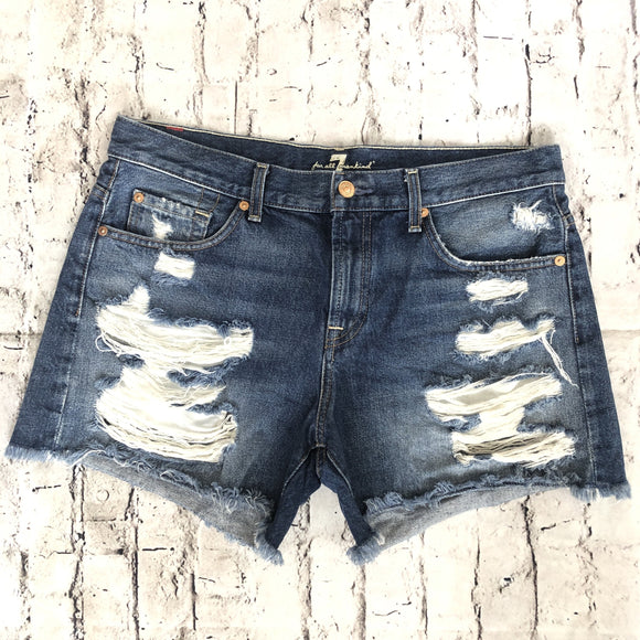 7 FOR ALL MANKIND Distressed Jean Shorts Size 30