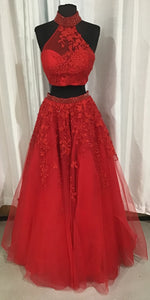 SHERRI HILL Long Two Piece Red Ball Gown Size 6