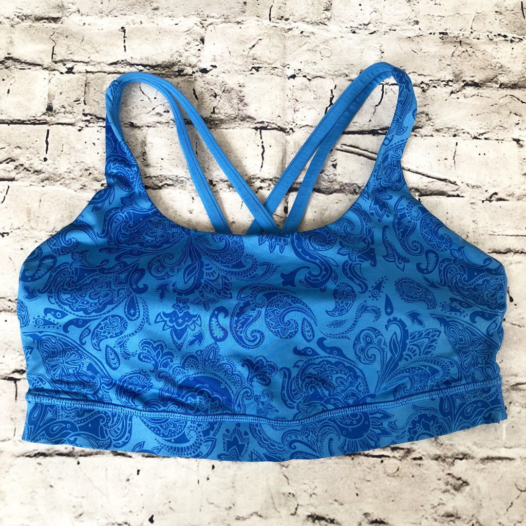 LULULEMON Blue Energy Sports Bra Size 8