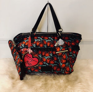 BETSEY JOHNSON CHERRY BOOM DIAPER BAG