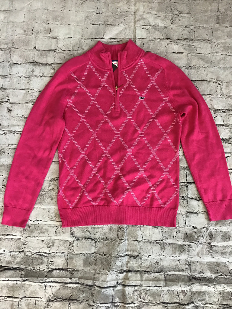 VINEYARD VINES Pink Medium 3/4 Zip