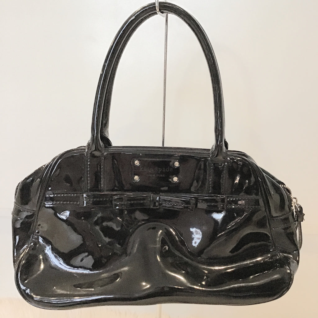 KATE SPADE BLACK PATENT LEATHER SATCHEL