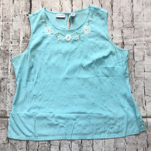 BOUTIQUE Blue Tank Top Size 1X