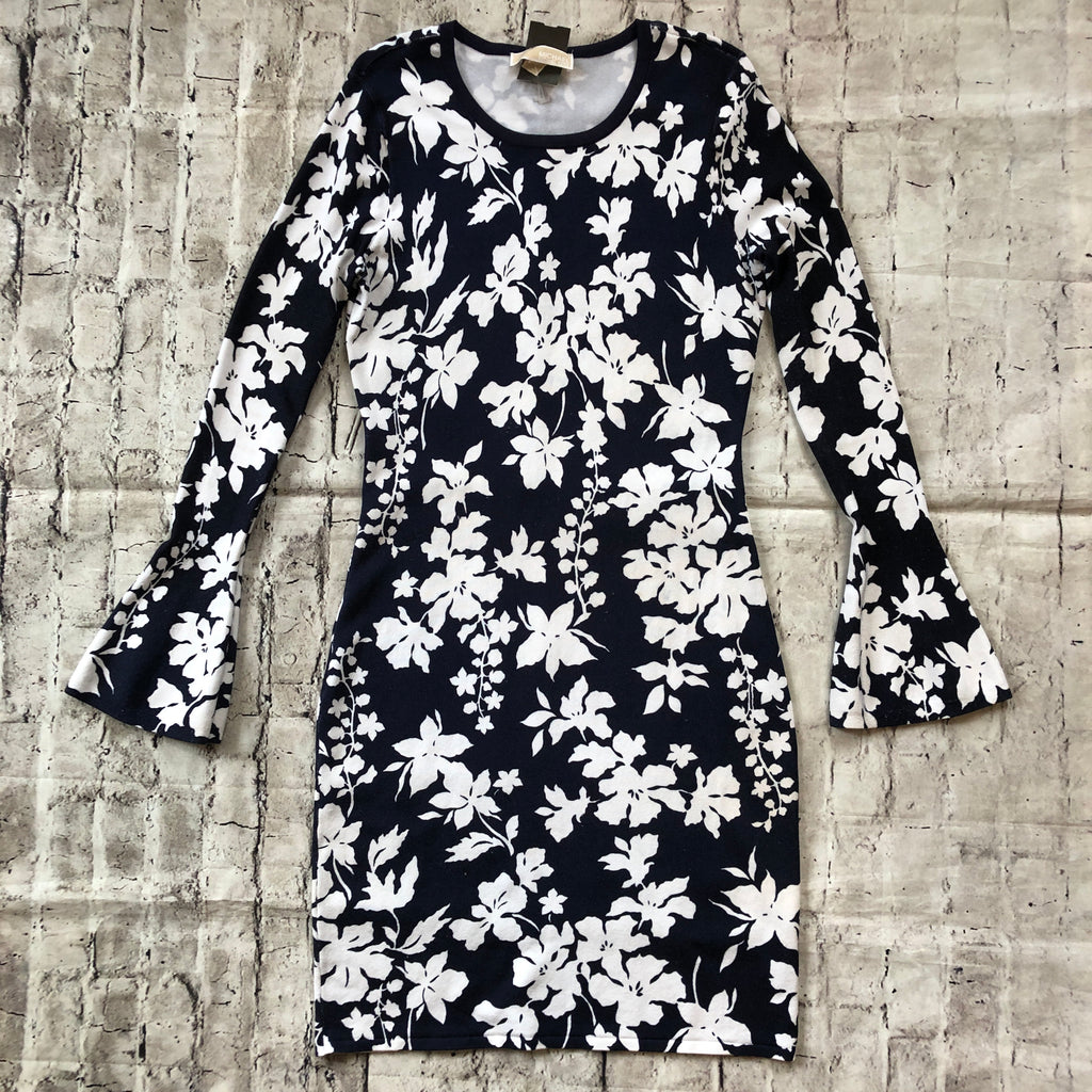 FLORAL BELL SLEEVE MICHAEL KORS DRESS SIZE M