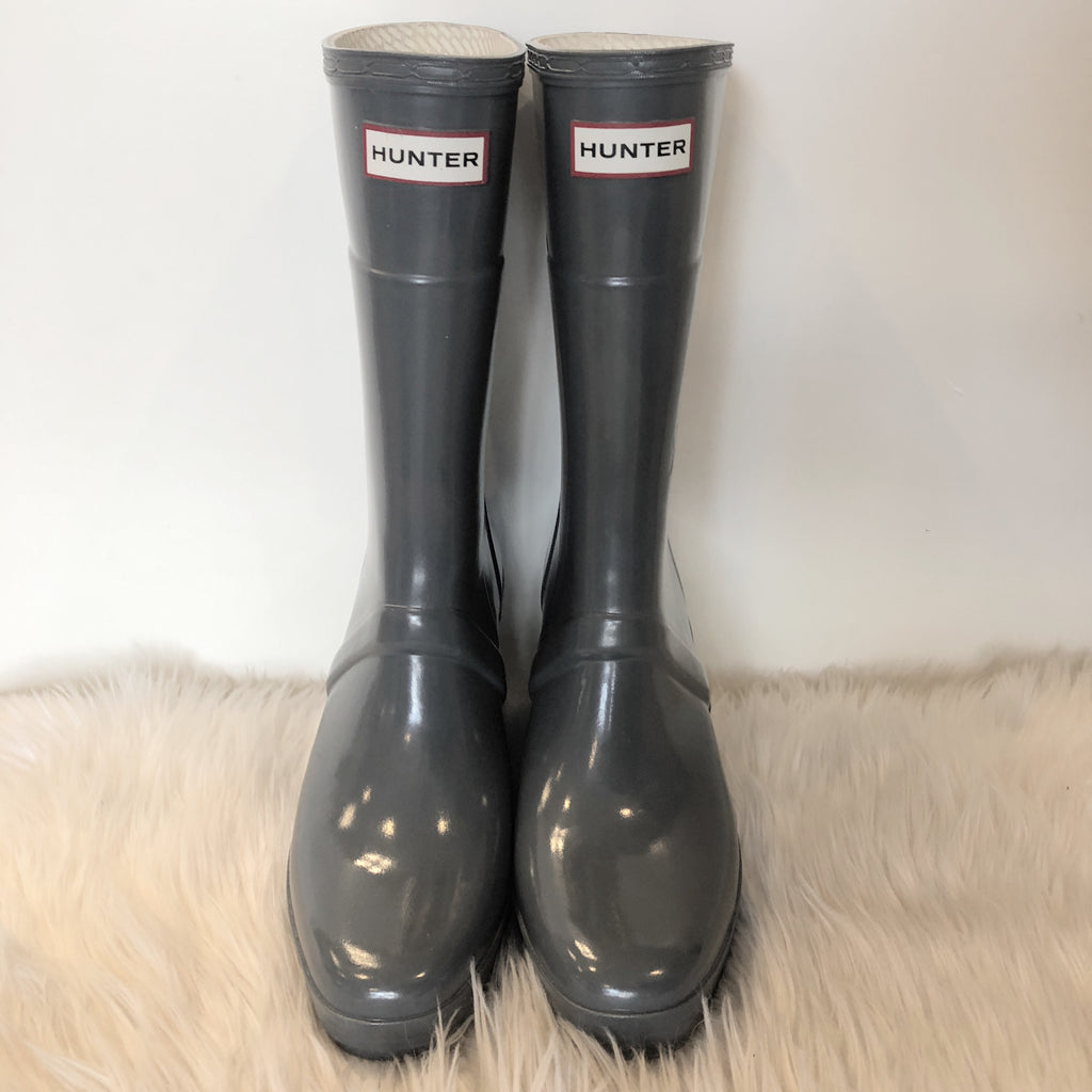 HUNTER SLIM FIT WEDGE RAIN BOOTS SIZE 8