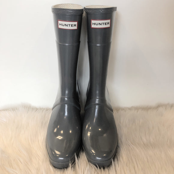 HUNTER SLIM FIT WEDGE RAIN BOOTS SIZE 9